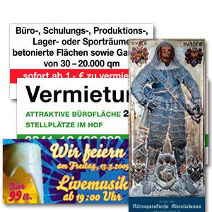 Bau- und Werbeplanen / Banner