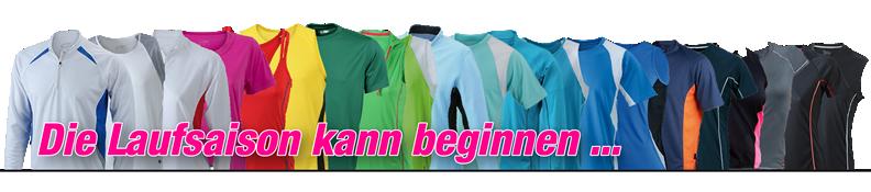 Shirts für die Laufsaison